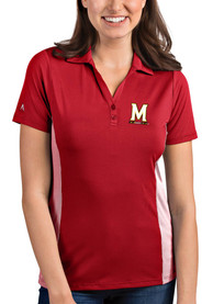 Maryland Terrapins Womens Antigua Venture Polo Shirt - Red