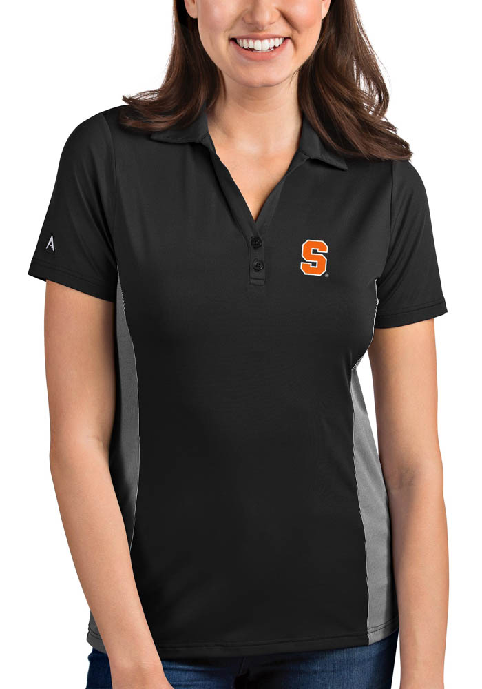 Antigua Syracuse Orange Womens Grey Venture Short Sleeve Polo Shirt - Image 1