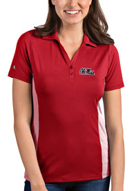 Ole Miss Rebels Womens Antigua Venture Polo Shirt - Red