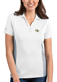GA Tech Yellow Jackets Womens Antigua Venture Polo Shirt - White