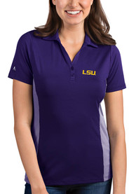 LSU Tigers Womens Antigua Venture Polo Shirt - Purple