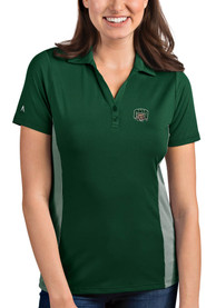 Ohio Bobcats Womens Antigua Venture Polo Shirt - Green
