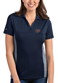 UTEP Miners Womens Antigua Venture Polo Shirt - Navy Blue