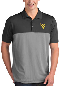 West Virginia Mountaineers Antigua Venture Polo Shirt - Grey