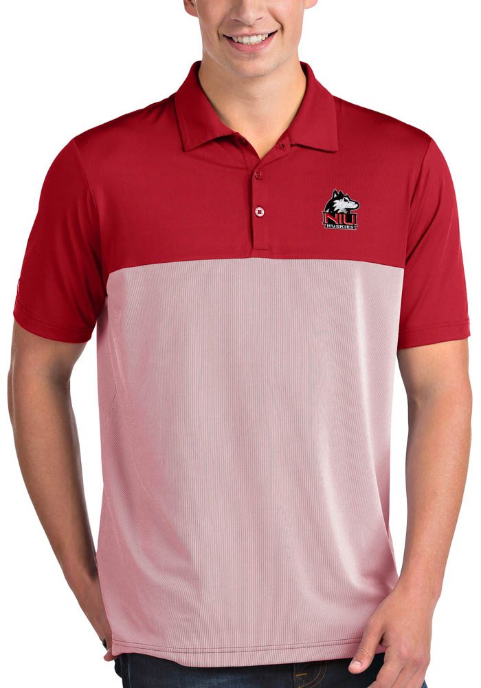 Antigua Northern Illinois Huskies Mens Red Venture Short Sleeve Polo - Image 1