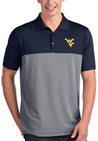 West Virginia Mountaineers Antigua Venture Polo Shirt - Navy Blue