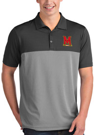 Maryland Terrapins Antigua Venture Polo Shirt - Grey