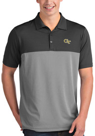GA Tech Yellow Jackets Antigua Venture Polo Shirt - Grey