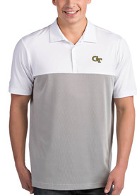 GA Tech Yellow Jackets Antigua Venture Polo Shirt - White