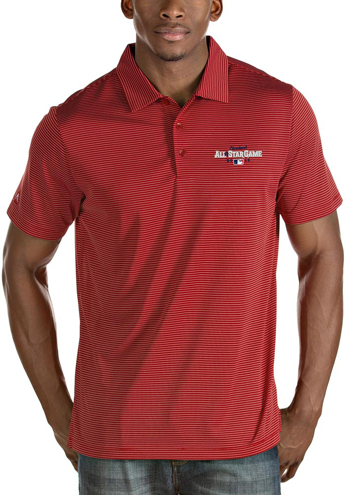 Antigua Cleveland All-Star Game Quest Short Sleeve Polo - Red - Image 1