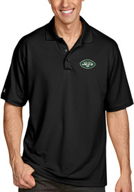 New York Jets Antigua Pique Polo Shirt - Black