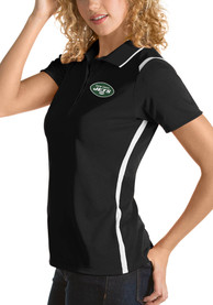 New York Jets Womens Antigua Merit Polo Shirt - Black