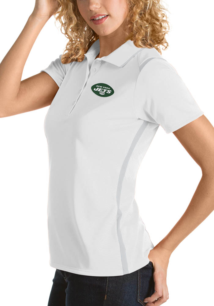 Antigua New York Jets Womens White Merit Short Sleeve Polo Shirt - Image 1