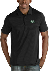New York Jets Antigua Quest Polo Shirt - Black
