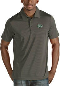 New York Jets Antigua Quest Polo Shirt - Grey
