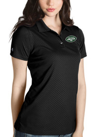 New York Jets Womens Antigua Inspire Polo Shirt - Black