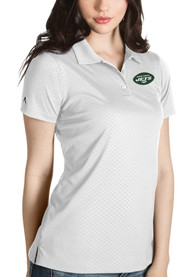 New York Jets Womens Antigua Inspire Polo Shirt - White