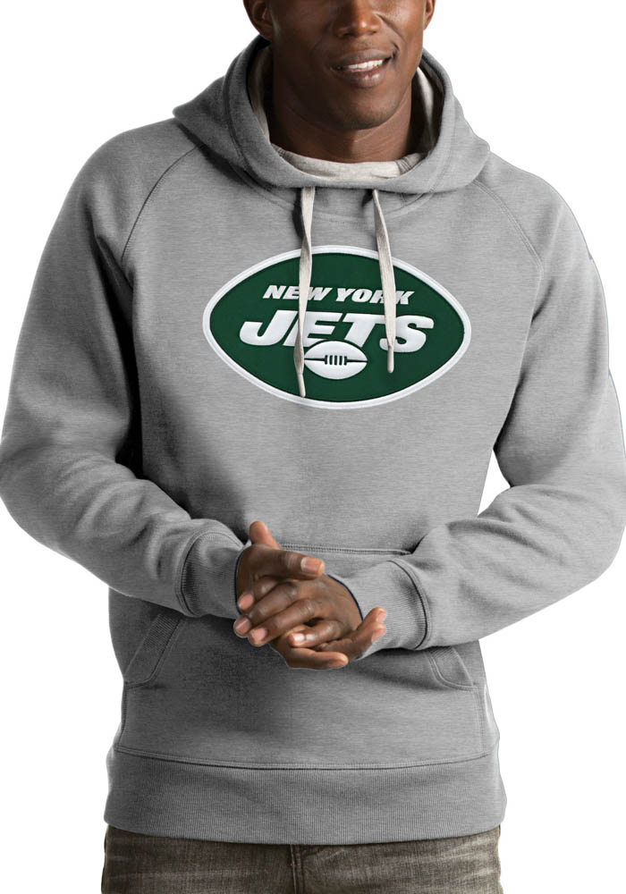 Antigua New York Jets Mens Grey Victory Fashion Hood - Image 1