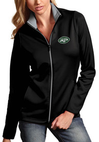 New York Jets Womens Antigua Leader Light Weight Jacket - Black