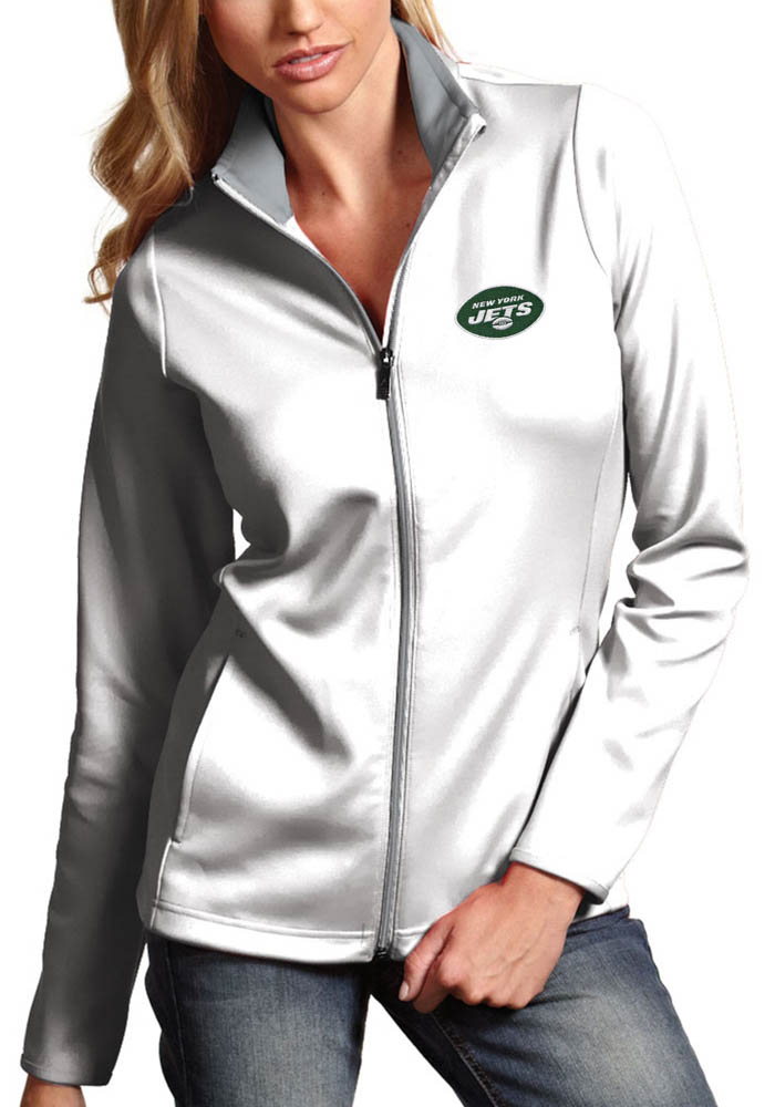 Antigua New York Jets Womens White Leader Light Weight Jacket - Image 1