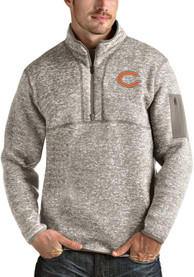 Chicago Bears Antigua Fortune 1/4 Zip Pullover - Oatmeal