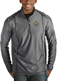 New Orleans Saints Antigua Tempo 1/4 Zip Pullover - Grey