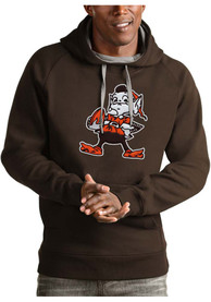 Cleveland Browns Antigua Victory Hooded Sweatshirt - Brown