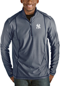 Antigua New York Yankees Navy Blue Tempo 1/4 Zip Pullover