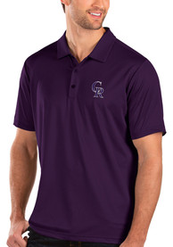 Colorado Rockies Antigua Balance Polo Shirt - Purple