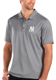 New York Yankees Antigua Balance Polo Shirt - Grey