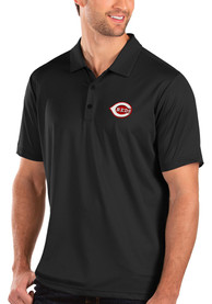 Cincinnati Reds Antigua Balance Polo Shirt - Black