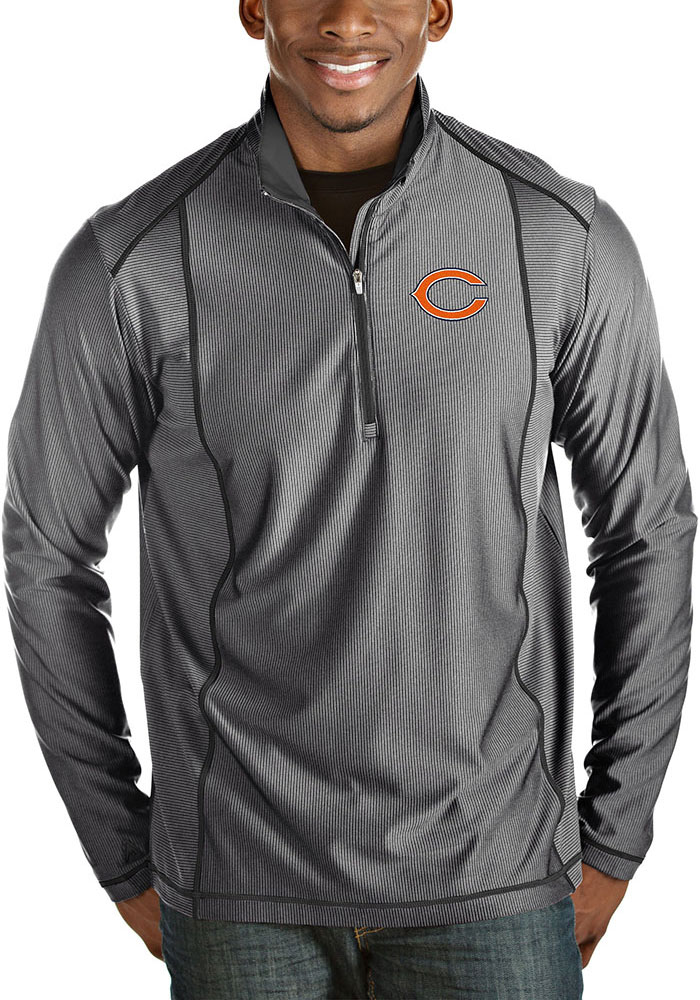 Chicago Bears Antigua Tempo 1/4 Zip Pullover - Charcoal
