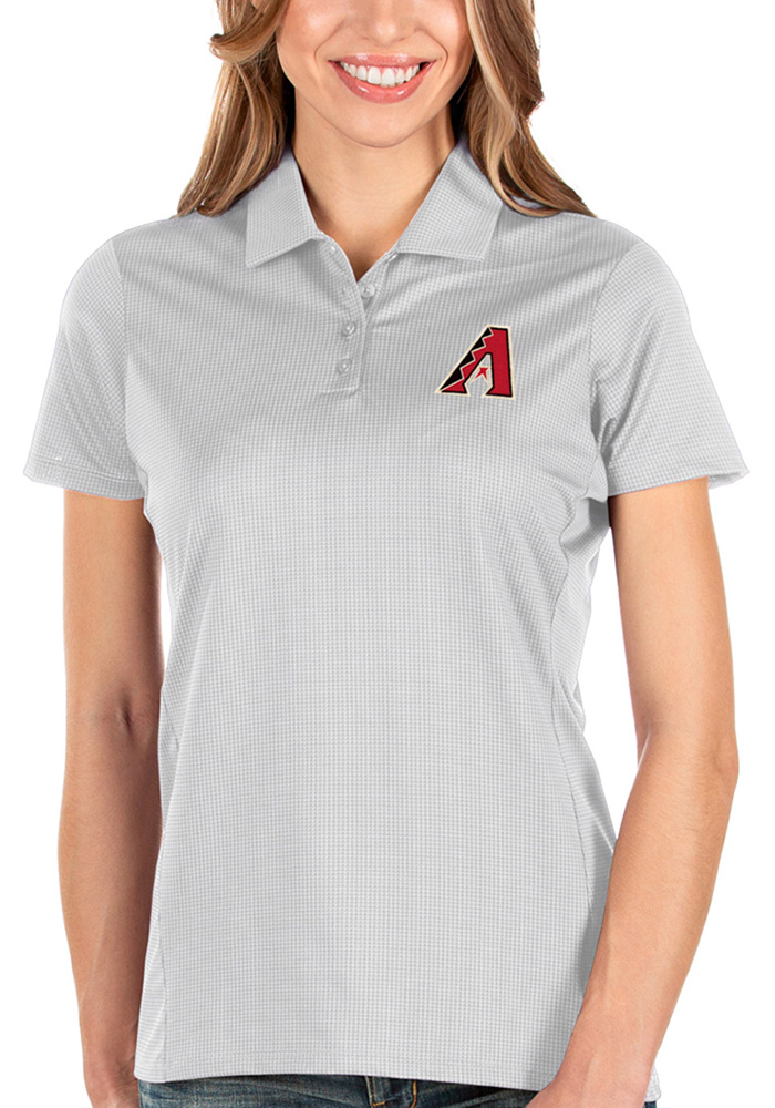 Antigua Arizona Diamondbacks Womens White Balance Short Sleeve Polo Shirt - Image 1