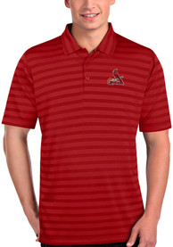 Antigua St Louis Cardinals Red Charge Short Sleeve Polo Shirt