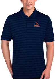 Antigua St Louis Cardinals Navy Blue Charge Short Sleeve Polo Shirt