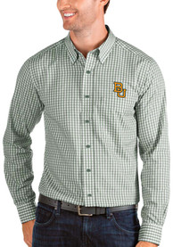Antigua Baylor Bears Green Structure Dress Shirt