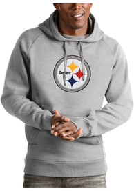 Pittsburgh Steelers Antigua Victory Hooded Sweatshirt - Grey