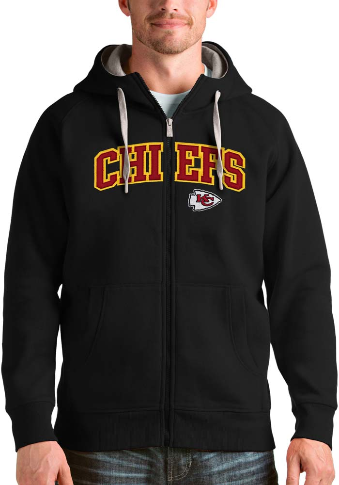 Antigua Kansas City Chiefs Mens Black Victory Long Sleeve Full Zip Jacket - Image 1