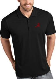 Antigua Alabama Crimson Tide Black Tribute Short Sleeve Polo Shirt
