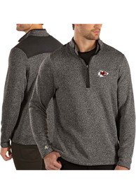 Kansas City Chiefs Antigua Clover 1/4 Zip Pullover - Black