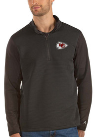 Antigua Kansas City Chiefs Black Canyon 1/4 Zip Pullover