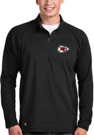 Antigua Kansas City Chiefs Black Sonar 1/4 Zip Pullover