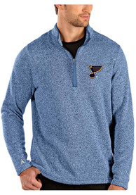 St Louis Blues Antigua Clover 1/4 Zip Pullover - Blue