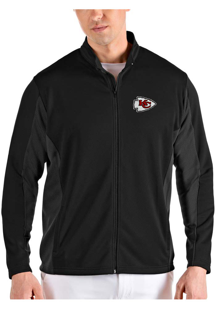 Antigua Kansas City Chiefs Mens Black Passage Light Weight Jacket - Image 1