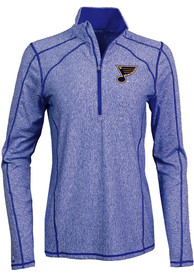 St Louis Blues Womens Antigua Tempo 1/4 Zip - Blue