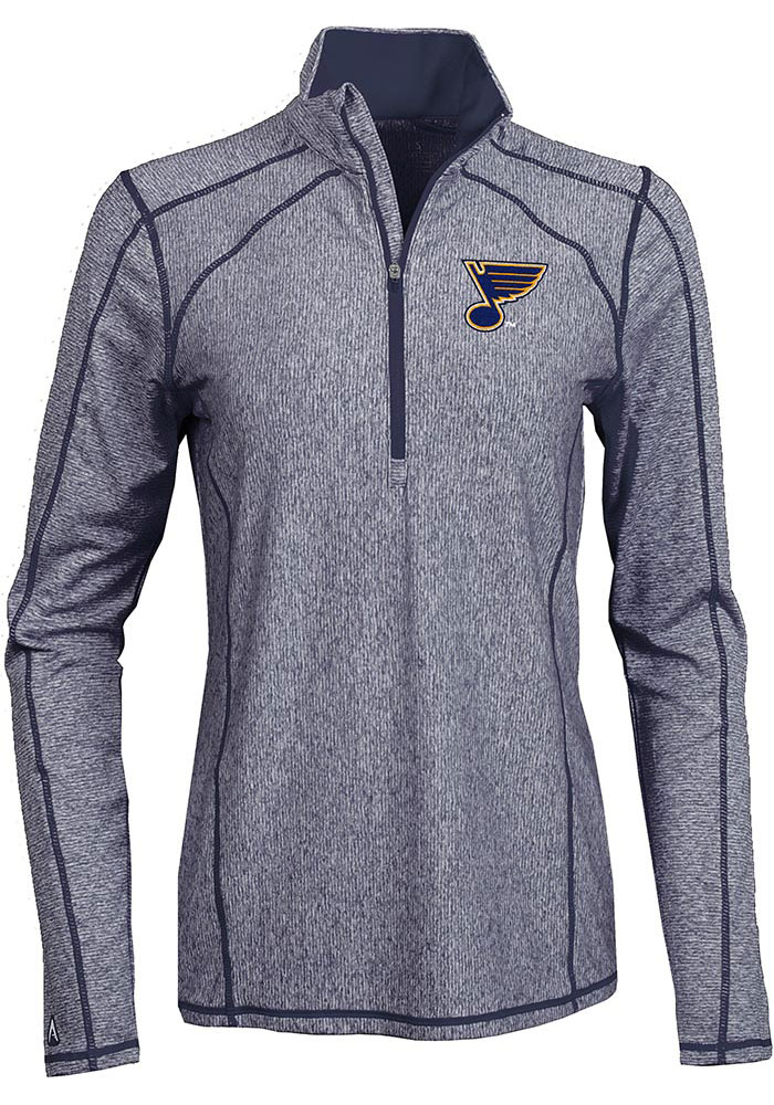 Antigua STL Blues Womens Navy Blue Tempo 1/4 Zip Pullover - Image 1