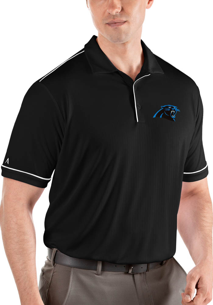Carolina Panthers Mens Black Salute Short Sleeve Polo - Image 1