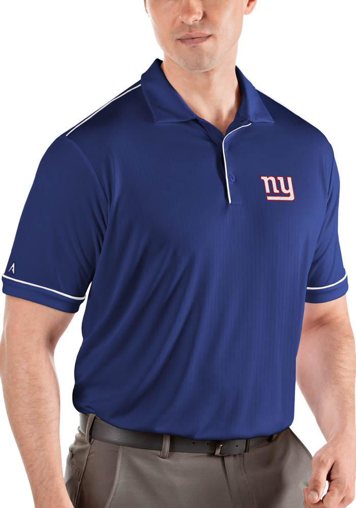 New York Giants Mens Blue Salute Short Sleeve Polo - Image 1