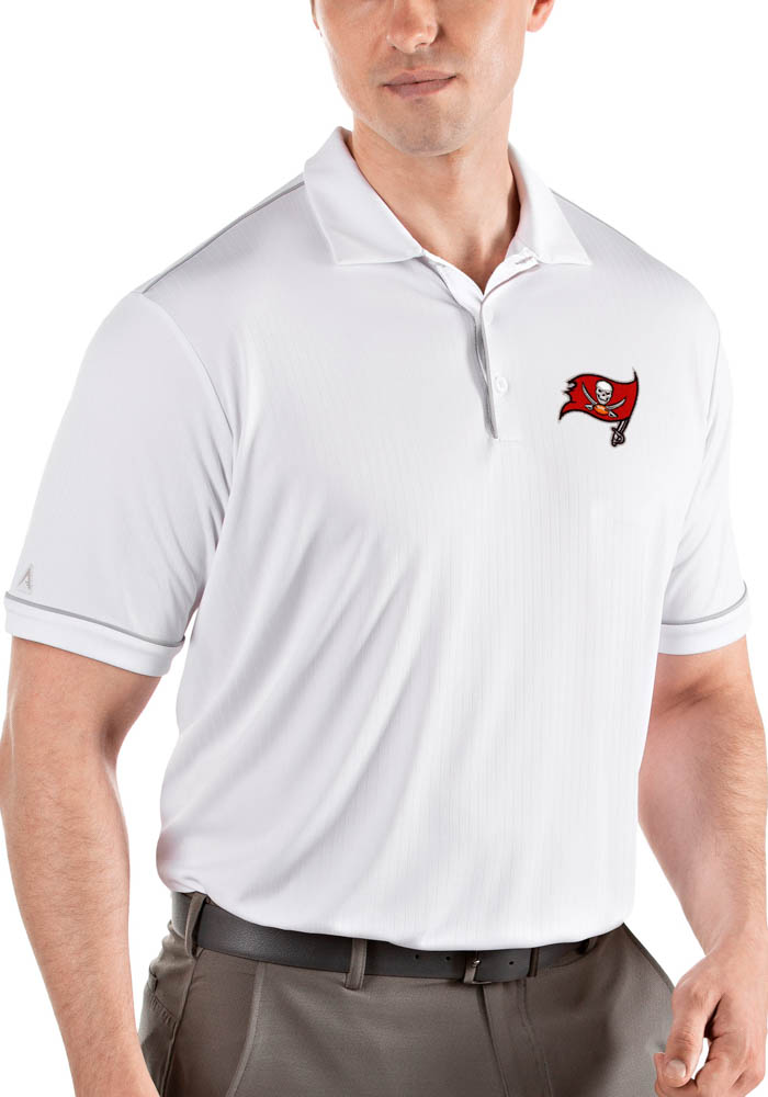 Antigua Tampa Bay Buccaneers Mens White Salute Short Sleeve Polo - Image 1