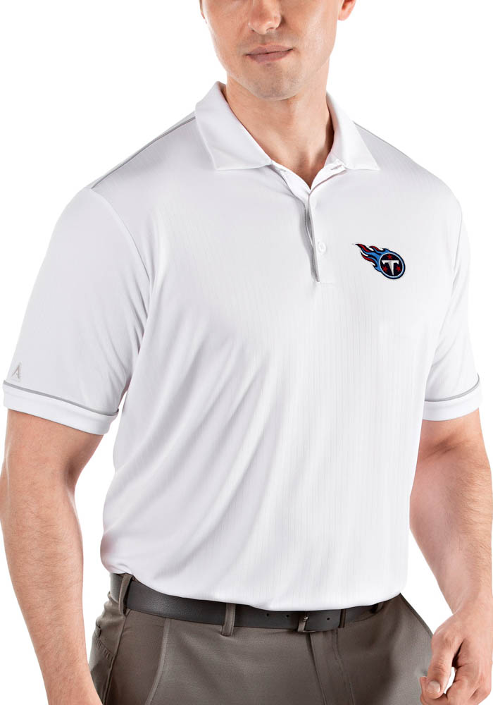 Antigua Tennessee Titans Mens White Salute Short Sleeve Polo - Image 1